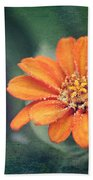 Orange Zinnia Bath Towel