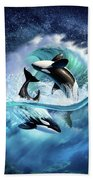 Orca Wave Bath Towel