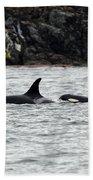 Orcas In The Salish Sea Bath Towel