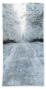 Orchard In White Bath Towel