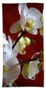 White Orchid Bath Towel