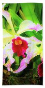 Orchid Flowers Color 1 Bath Towel