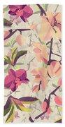 Orchid Pattern Bath Towel