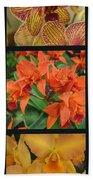 Orchids Vertical Triptych Bath Towel