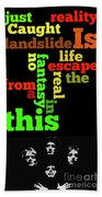 Order The Lyrics Game. Queen. Bohemian Rapsody. Game For Music Lovers And Fans Bath Towel