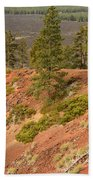 Oregon Landscape - Red Crater Bath Towel