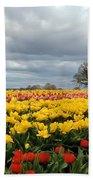 Oregon Tulip Fields 2 Photograph Bath Towel
