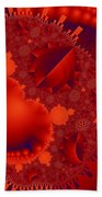 Organics Over Geometrics In Red Bath Towel