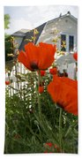 Oriental Poppies Bath Towel