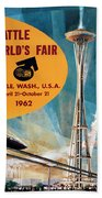 Original 1962 Seattle Worlds Fair Promotion Bath Towel