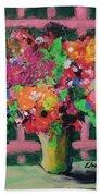 Original Bouquetaday Floral Painting By Elaine Elliott 59.00 Incl Shipping 12x12 On Canvas Bath Towel