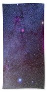 Orion And Canis Major Showing Dog Stars Bath Towel
