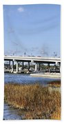 Ormond Beach Bridge Bath Towel
