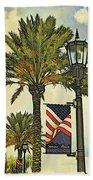 Ormond Beach Patriotic Bath Towel