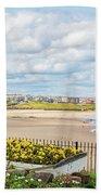 Ornamental Boat Against Tynemouth Coastline Bath Towel