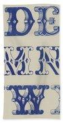 Ornamental Font Bath Towel