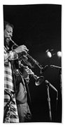 Ornette Coleman On Trumpet Bath Towel
