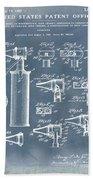 Otoscope Patent 1927 Blue Grunge Bath Towel