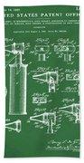 Otoscope Patent 1927 Green Bath Towel