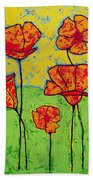 Our Golden Poppies Bath Towel
