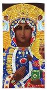 Our Lady Of Czestochowa - Mmcze Bath Towel