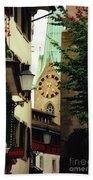 Our Ladys Minster Church In Zurich Switzerland Bath Towel