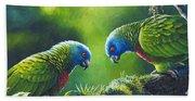 Out On A Limb - St. Lucia Parrots Bath Towel