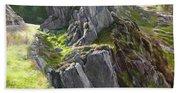 Outcrop In Snowdonia Bath Towel