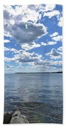 Outhaul On An Island In Casco Bay Maine  Bath Towel