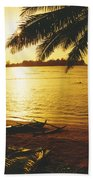 Outrigger At Sunset Bath Towel