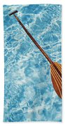 Overhead View Of Paddle Bath Towel