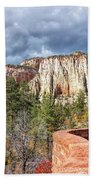 Overlook In Zion National Park Upper Plateau Bath Towel