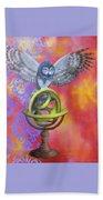 Owl And Star Map Bath Towel