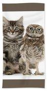 Owling And Yowling Bath Towel