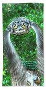 Owll In Flight Bath Towel