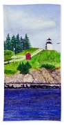 Owls Head Lighthouse Bath Towel
