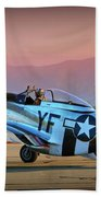 P-51d Mustang 'dakota Kid II. The Long Island Kid' And Casey Odegaard Bath Towel