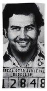 Pablo Escobar Mug Shot 1991 Vertical Bath Towel