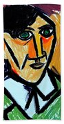 Pablo Picasso 1907 Self-portrait Remake Bath Towel