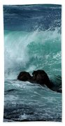 Pacific Coast Crashing Wave Photograph Bath Towel