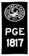 Pacific Great Eastern - 1817 Hand Towel