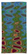 Pacific Ocean From Oregon Abstract Bath Towel