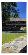 Packard Hill Covered Bridge - Lebanon New Hampshire  Bath Towel