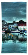 Padstow Harbour At Dusk Bath Towel