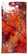 Painted Branches Abstract 5 Bath Towel