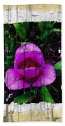Painted Flower With Peeling Effect Bath Towel