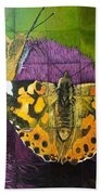 Painted Lady Butterflies Hand Towel