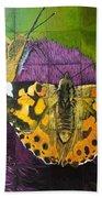 Painted Lady Butterflies Bath Towel