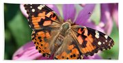 Painted Lady Butterfly Bath Towel