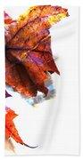 Painted Leaf Series 1 Bath Towel